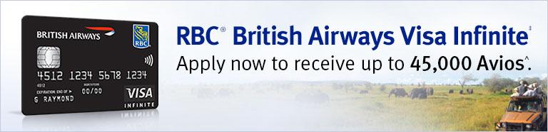 Canadian RBC Avios Visa Infinite – 45,000 Signup bonus