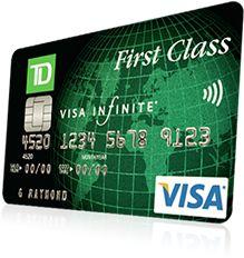 Td Visa Infinite >> Td First Class Visa Infinite 40 000 Bonus Points And First Year Free