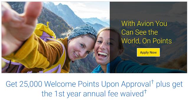 RBC Visa Infinite Avion sign up offer - 25,000 bonus points